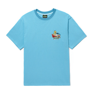 [B.C X S.S]BEYOND STREET FAMILY 1/2 T-SHIRTS BLUE