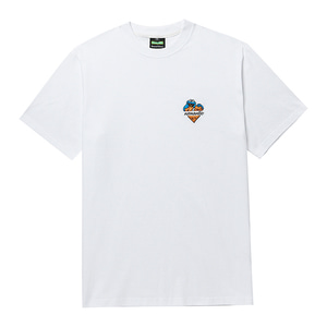 [B.C X S.S]COOKIE MONSTER HEART LOGO 1/2 T-SHIRTS WHITE