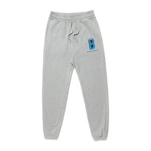 [B.C X S.S]B COOKIE MONSTER LOGO SWEAT PANTS GRAY