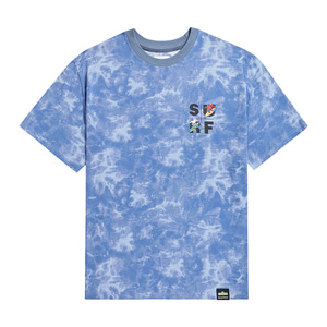 [B.C X S.S]SURF SQUARE GRAPHICS TIE-DYE 1/2 T-SHIRTS BLUE