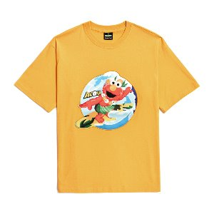 [B.C X S.S]ELMO SURFER PATCH 1/2 T-SHIRTS YELLOW