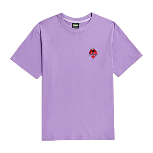 [B.C X S.S]ELMO HEART LOGO 1/2 T-SHIRTS PURPLE