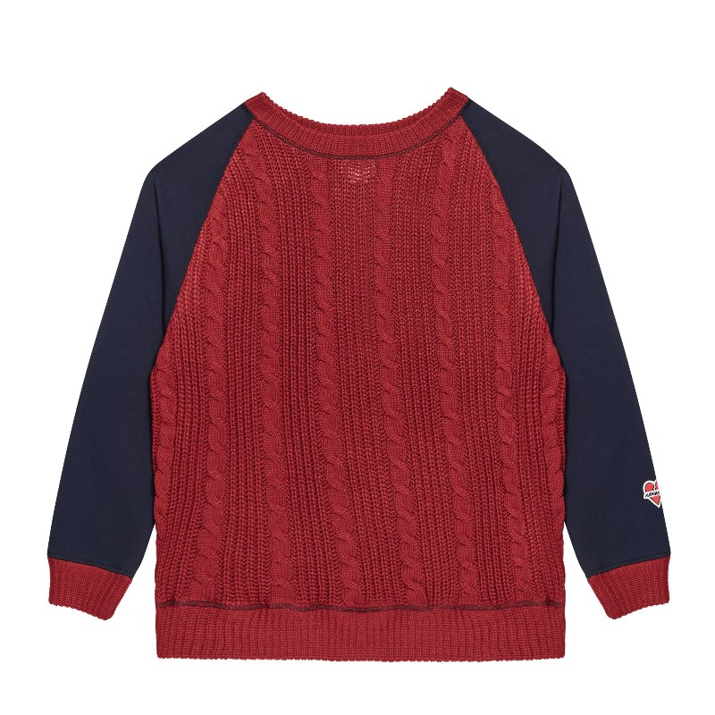 NOMANTIC DOUBLE-SIDED KNIT SWEAT-SHIRTS RED