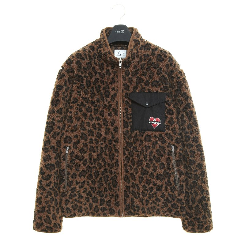 NOMANTIC LEOPARD ECO-FUR ZIP-UP BROWN