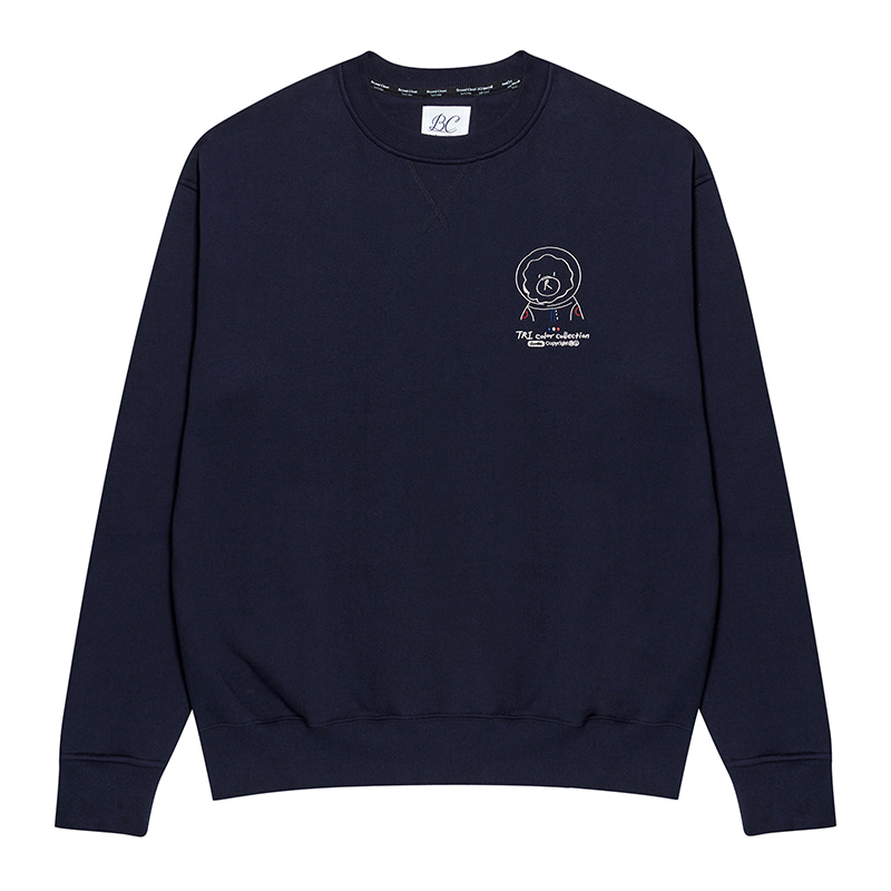 [기모]ILP NEWYORK TRICOLOR DOODLE SWEAT-SHIRTS NAVY