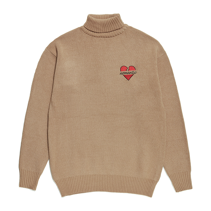NOMANTIC TURTLE NECK KNIT BEIGE