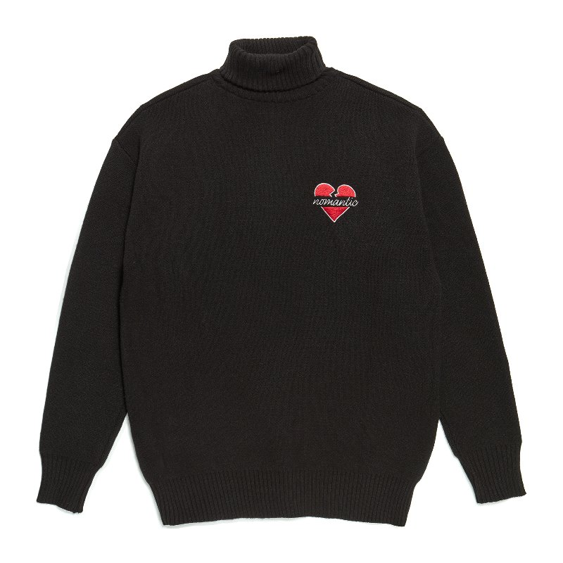 NOMANTIC TURTLE NECK KNIT BLACK