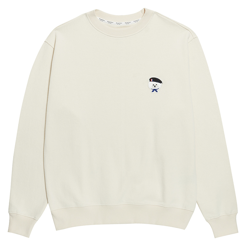 ILP SIGNATURE PARIS LOGO SWEAT-SHIRTS 2020SS IVORY