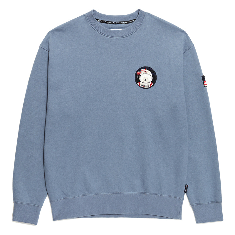 [RE-EDITION]APOLLO W-WAPPEN SWEAT-SHIRTS 2020SS FADED DENIM