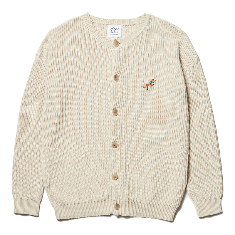 ILP DOG DAYS HEAVY COTTON CARDIGAN IVORY
