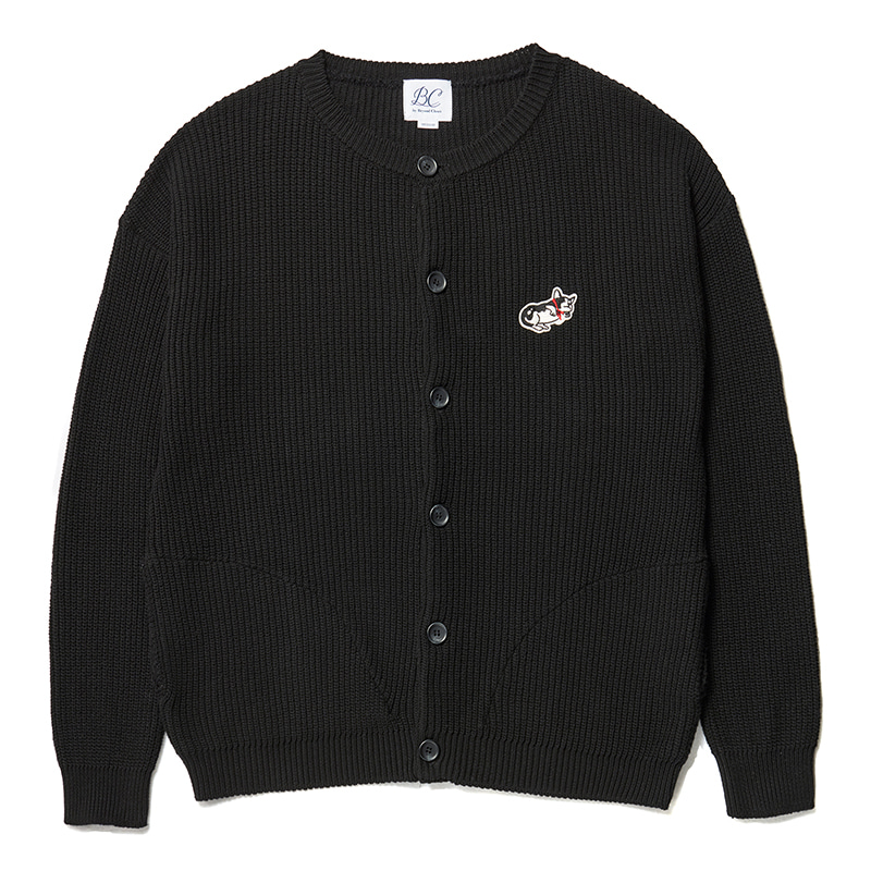 ILP DOG DAYS HEAVY COTTON CARDIGAN BLACK