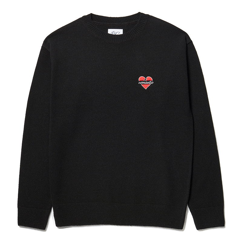 NOMANTIC LOGO WOOL BASIC KNIT BLACK