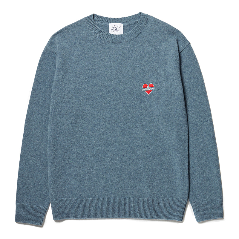 NOMANTIC LOGO WOOL BASIC KNIT CLASSIC BLUE
