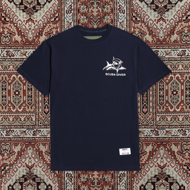[30ARCHIVE]RECON LOGO 1/2 T-SHIRTS NAVY