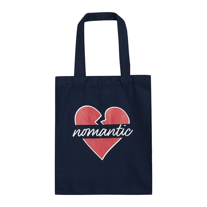NOMANTIC PARISIEN CANVAS TOTE BAG NAVY