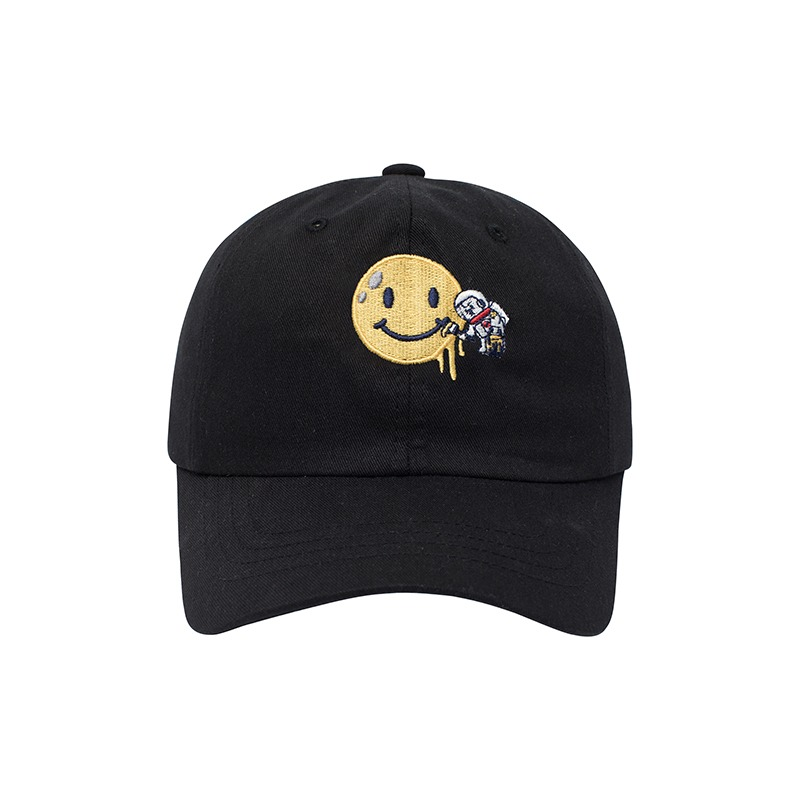 APOLLO COLLECTION SMILE LOGO CHINO CAP BLACK