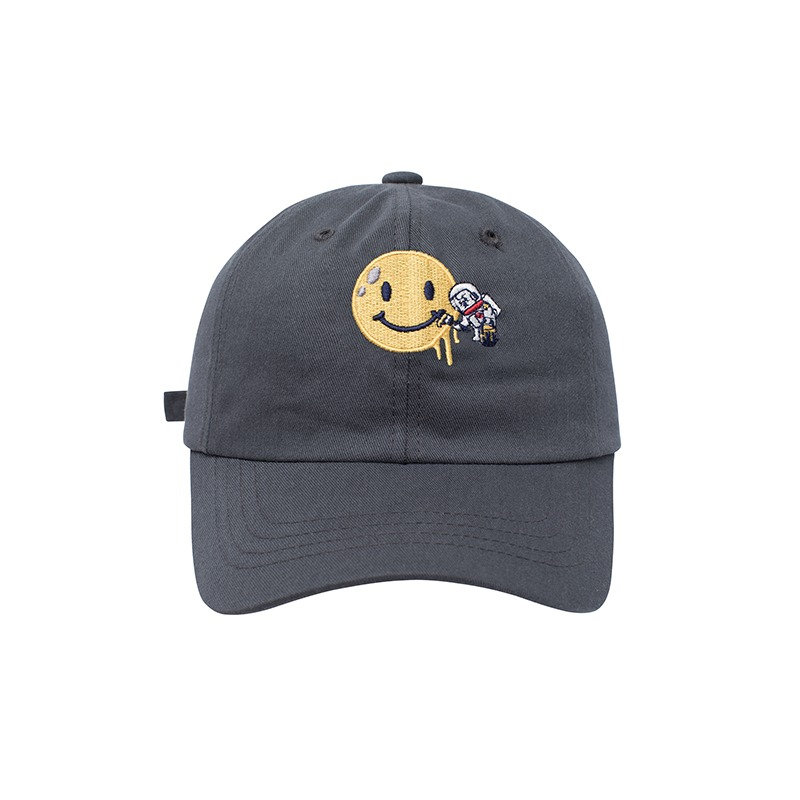 APOLLO COLLECTION SMILE LOGO CHINO CAP GRAY