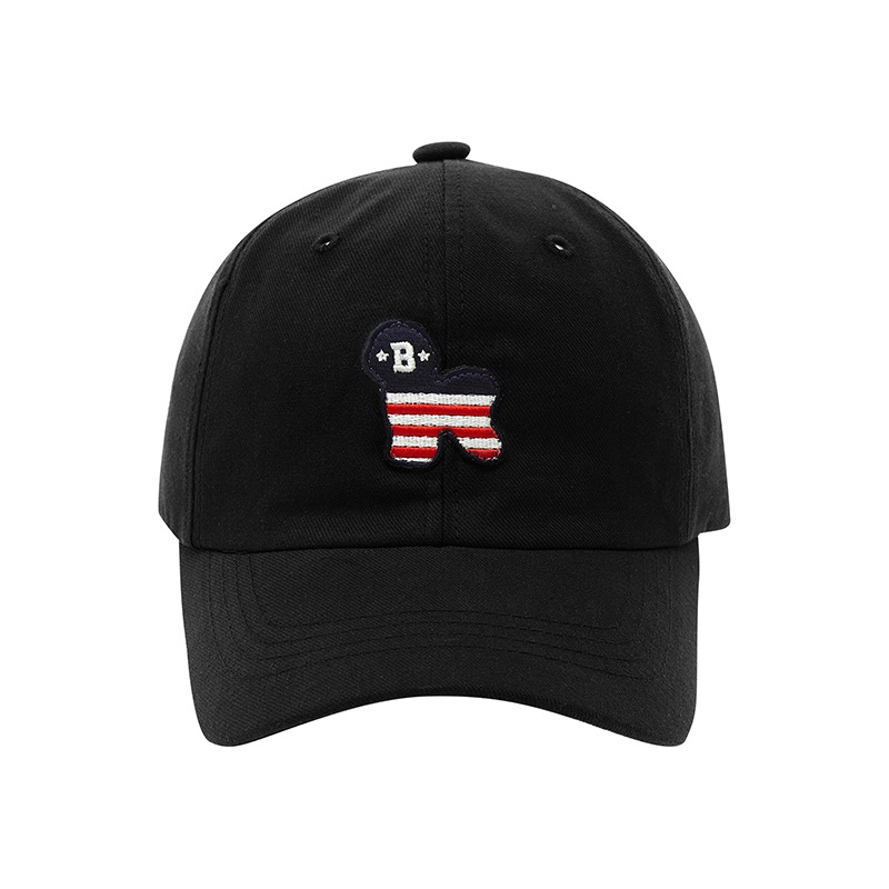 FLAG DOG CHINO BALL CAP BLACK