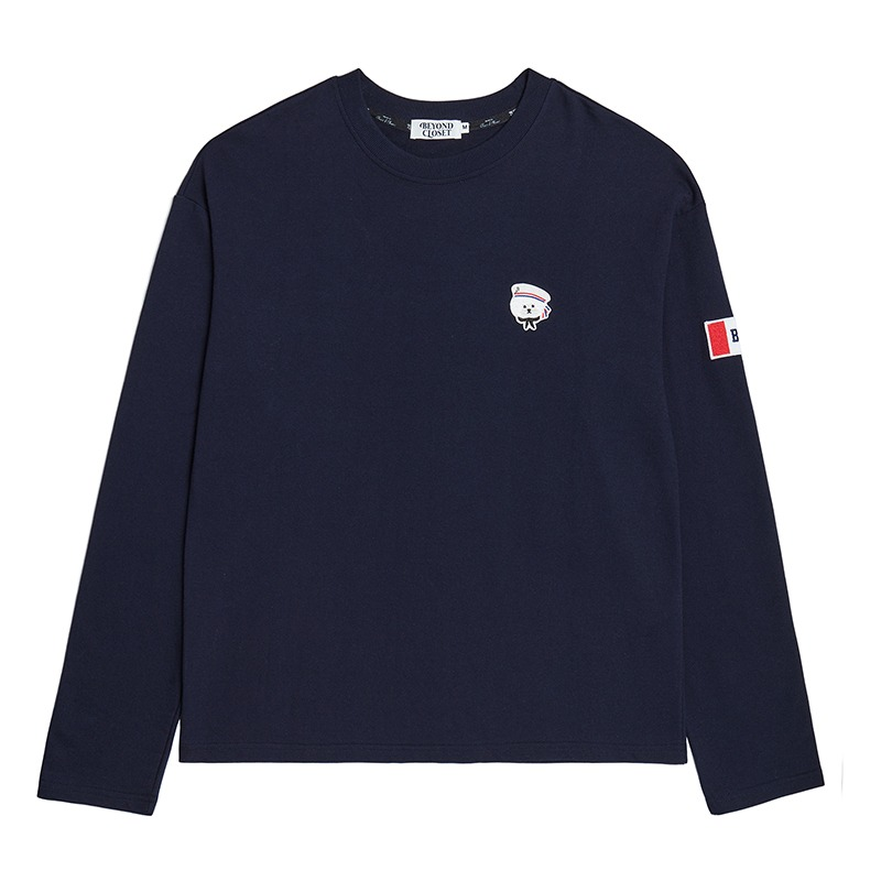 [10/7 출고]NEW PARISIEN LONG SLEEVE T-SHIRTS NAVY