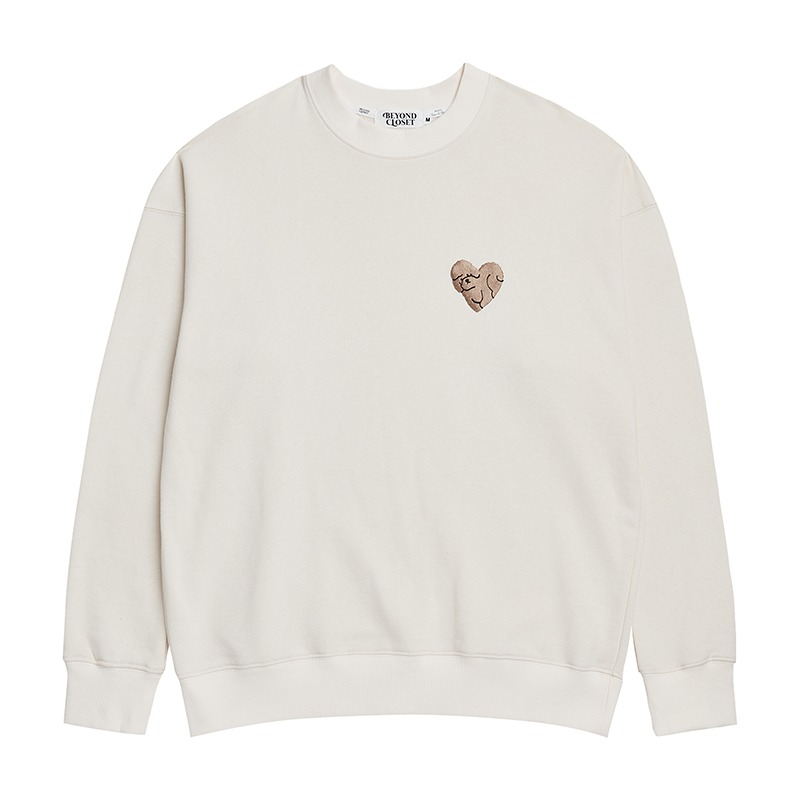 NEW NOMAL LOVE SWEAT-SHIRTS CREAM