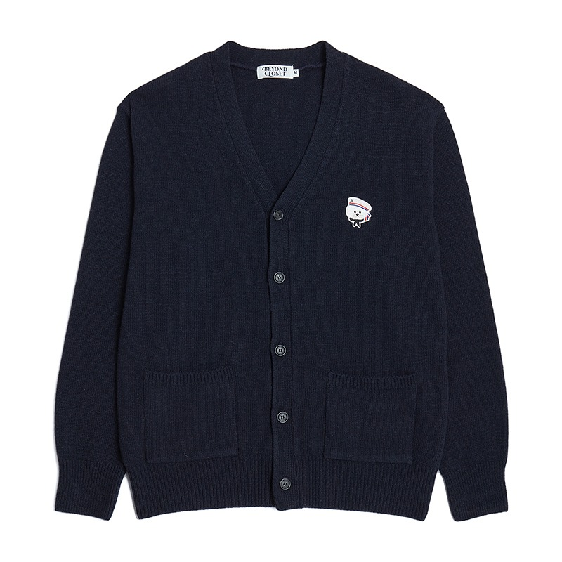 NEW PARISIEN WOOL CADIGAN NAVY