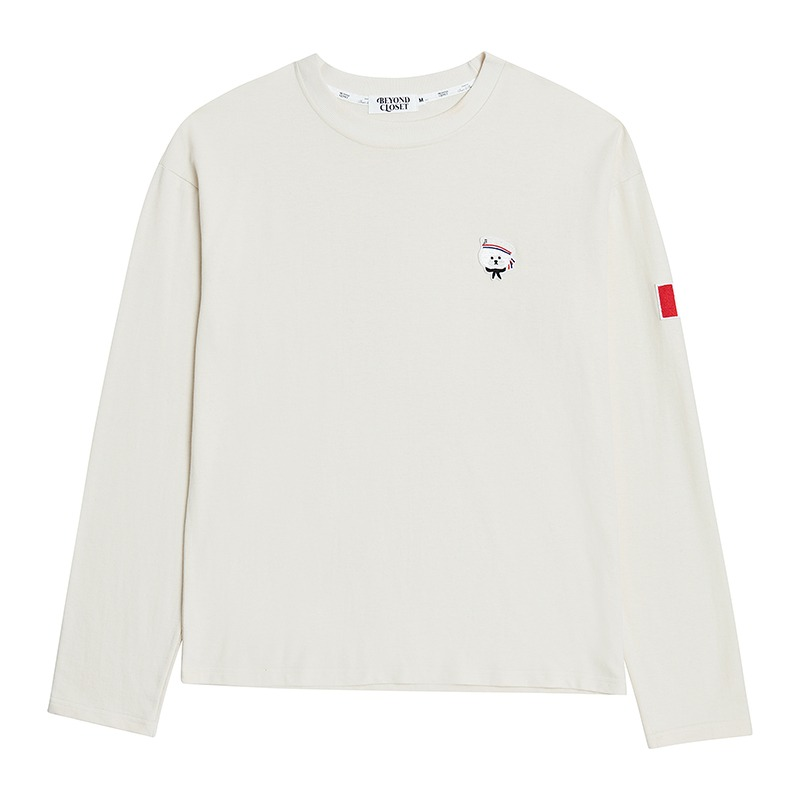 [S 10/7 출고]NEW PARISIEN LONG SLEEVE T-SHIRTS CREAM