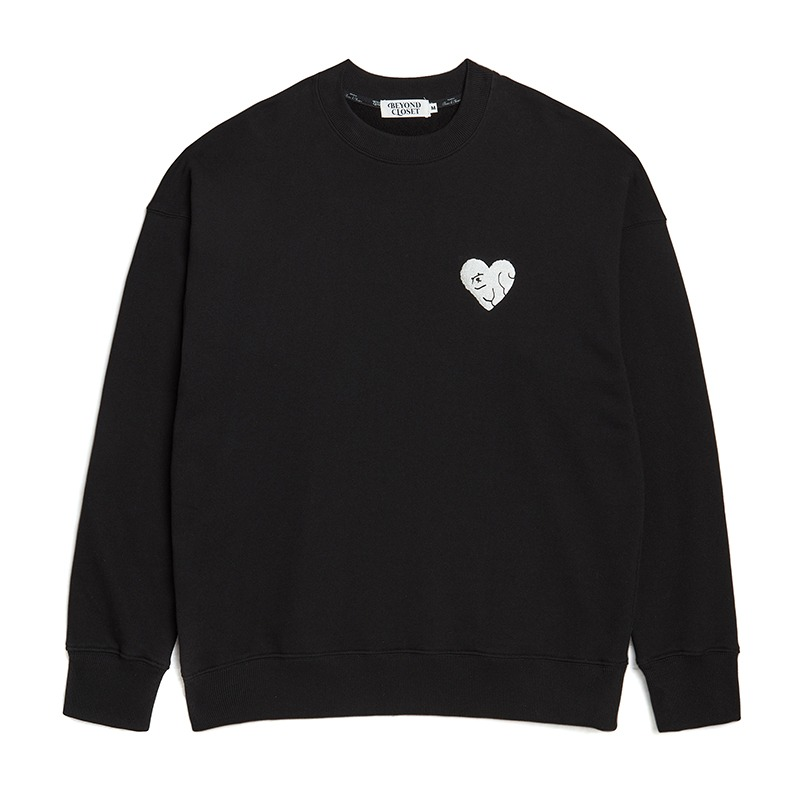 NEW NOMAL LOVE SWEAT-SHIRTS BLACK