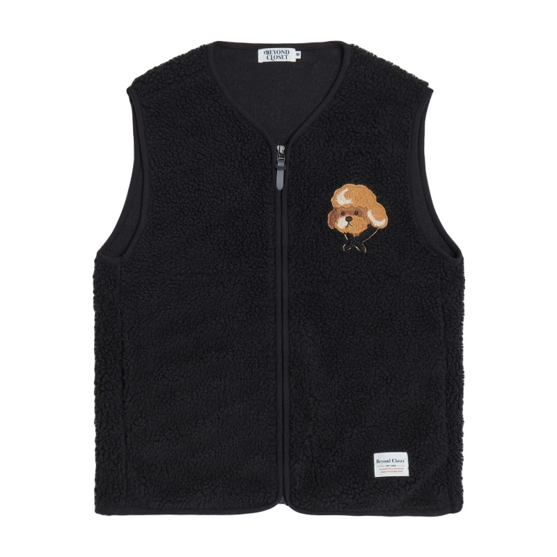 HQ WAPPEN FLEECE VEST BLACK